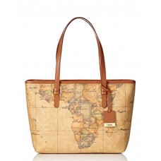 ALVIERO MARTINI Borsa Media Spalla Shopping Stampa Geo Natural D006