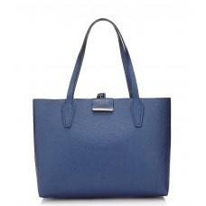 GUESS (Bobbi) Borsa Tote Shopper Reversibile Pochette Astuccio Blue/Cognac VG642215