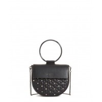 GUESS (Fall In Love Mini) Borsetta Pattina Catenina Tracolla Matelassè Glitter Nero VM679035