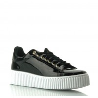 GUESS (Denky) Sneaker Effetto Vernice Stringhe Platform FLDEN3PAT12