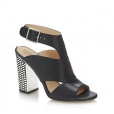 GUESS (Abbien) Sandalo Tomaia Pelle Incrocio Tacco Largo Rete FLBBN1LEA09