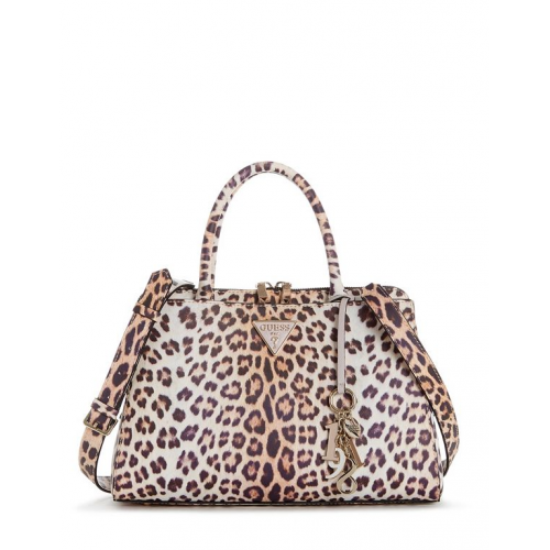 GUESS (Maddy) Borsa Satchel Tracolla Stampa Leopard LG729106