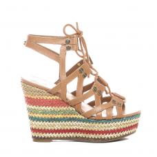 GUESS (Gray) Sandalo Pelle Zeppa Multicolore FL6GRYLEA04