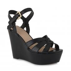 GUESS (Guliver) Sandalo Zeppa Pelle Intreccio Tomaia FL6GULLEA04