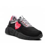 LOVE MOSCHINO Sneaker Tela Cuore Running JA15203G17IK100A
