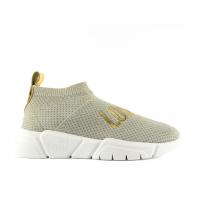 LOVE MOSCHINO Sneaker Running Tessuto Elastico Logo Plati JA15223G17I