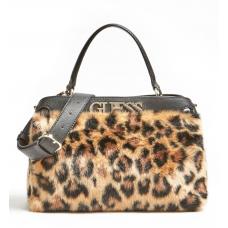 GUESS (Gwen) Borsa Mano Tracolla Leopard Pelliccia LG789306