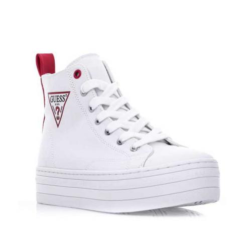 GUESS (Bokan) Sneaker Stivaletto Tessuto Tacco Gomma FL6BONFAB12