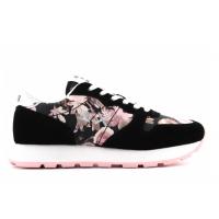 SUN68 (Ally) Scarpa Sneaker Corsa Camoscio Stampa Floreale Z30205
