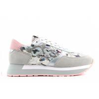 SUN68 (Kate) Scarpa Sneaker Corsa Camoscio Paillettes Animal Z30216