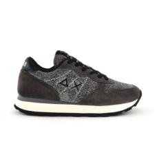 SUN68 (Ally) Sneaker Thin Glitter Grigio Scuro Z40205