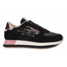 SUN68 (Kate) Sneaker Velvet Paillettes Rosa Z40218