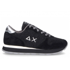 SUN68 (Ally) Sneaker Running Thin Glitter Nero Z40205