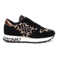 SUN68 (Ally) Sneaker Camoscio Animal Glitter Z40208