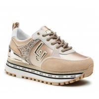LIU JO (Maxi Wonder) Sneaker Camoscio Satin Milk BA1063