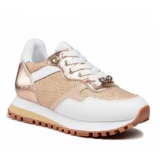 LIU JO (Wonder) Sneaker Pelle Rete Oro BA1049