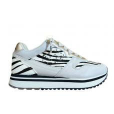 LOTTO Leggenda (Tokyo Wedge) Sneaker Camoscio Fondo Rialzato Zebra 212424 223