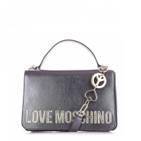 LOVE MOSCHINO Borsa Cartella Tracolla Metallic Pattina Logo JC4036PP18