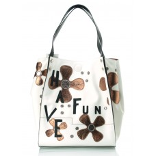 LA CARRIE Borsa Shopping Ecopelle 3 in 1 Stampa Fiori Fun 171R