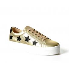 GUESS (Fahlstar) Sneaker Pelle Vernice Fondo Alto Gomma Stelle FLFHS3LEM12