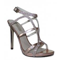 GUESS (adalee3) Sandalo Donna Pelle Camoscio Intreccio Glitter Rosa FLAE32SUE03