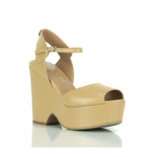 TWIN SET Sandalo Donna Spuntato Pelle Zeppa Desert CS6TRQ