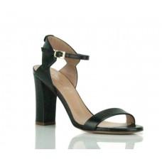 TWIN SET Sandalo Donna Pelle Tacco Largo Basico Nero CS6TRW